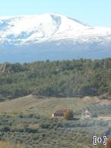 El Zalabí con el fondo de Sierra Nevada