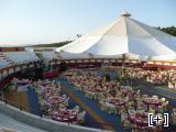 Plaza de toros vestida para boda