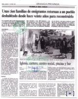 Portada de periódico con noticia sobre la Rambla del Agua