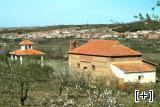 Vista de la ermita desde los almendros
