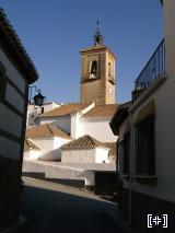 Vista desde una calle del pueblo de la Iglesia de Alcudia