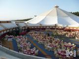 Plaza de toros vestida para una boda