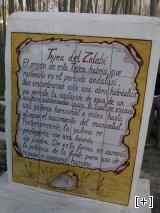 Placa descriptiva de la Tejea del Zalabí
